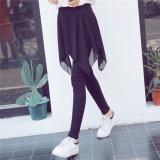 Harga Musim Semi Musim Gugur Chiffon Salah Dua Legging Rok Longgar Memakai Ukuran Besar Pant Hitam Intl Original