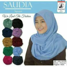 Square Hijab Saudia Umama Scarf Rawis ORI/ Jilbab Segi Empat Rawis/ Jilbab Segiempat/ Grosir Jilbab