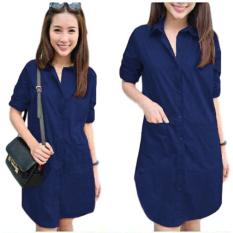SR Collection Aliza Dress - Navy