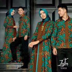SR Collection Best Seller Couple Batik Muslim Pria Wanita Zafira - Hijau Tosca