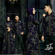 Cuci Gudang Sr Collection Best Seller Couple Batik Muslim Pria Wanita Zafira Navy