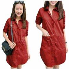 SR Collection Best Seller Dress Wanita Aliza - Merah