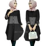 Jual Sr Collection Best Seller Tunik Wanita Zoya Lengan Panjang Hitam Import