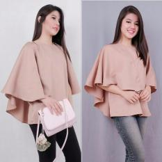 Harga Sr Collection Blouse Wanita Tangan Cape Invintalia Coklat