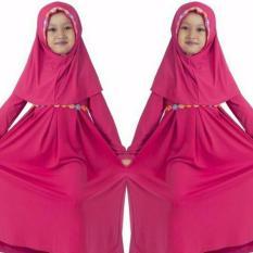 Toko Sr Collection Hijab Anak Falina Kombinasi Renda Pink Fanta Termurah Dki Jakarta