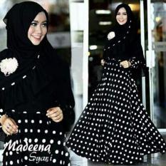 SR Collection Maxy Gamis Syari Muslim Set 2 in 1 Wanita Madenari - Hitam