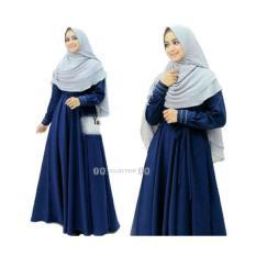 Spek Sr Collection Maxy Wanita Muslim Busui Friendly Lengan Panjang Sanria Navy Sr Collection
