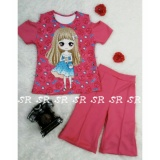 Obral Sr Collection Pakaian Anak Perempuan Set 2 In 1 Blouse Kulot 0007 Size 1 2 3 Murah