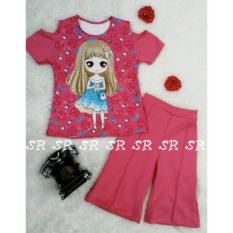 Cara Beli Sr Collection Pakaian Anak Perempuan Set 2 In 1 Blouse Kulot 0007 Size 1 2 3