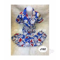 SR Collection Pakaian Tidur Motif Doraemon Celana Panjang Wanita - Biru