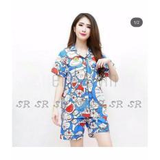Beli Sr Collection Pakaian Tidur Motif Doraemon Celana Pendek Wanita Biru Online Dki Jakarta