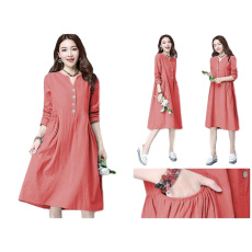 SR Collection Dress Jumbo There - Merah