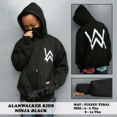 Jual Sr Cloth Jaket Zipper Ninja Hoodie Alan Walker Hitam Sablon Putih Sr Cloth Branded