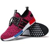 Srz Gaya Baru Pasangan Fashion Bernapas Kasual Sepatu Mesh Sepatu Merah Muda Intl Asli