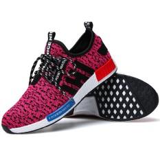 Harga Srz Gaya Baru Pasangan Fashion Bernapas Kasual Sepatu Mesh Sepatu Merah Muda Intl Terbaru