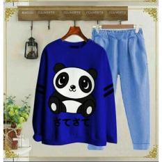 ST Panda Biru , Baju Setelan Wanita - MS