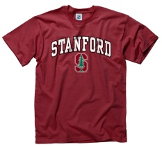 Stanford Cardinal Adult Arch & Logo Soft Gaya Gameday T-Shirt-Kardinal,-Intl