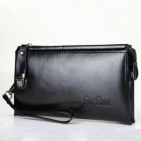 Harga Clutch Bag Pu Kulit Pria Panjang Tas Zipper Bisnis Dompet Handbag Hitam Yang Murah Dan Bagus