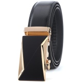 Spek Men S Automatic Buckle Leather Belts 1 3 Wide 42 47 Length Black Intl Star Ever