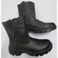 Sepatu boot safety Genuine Leather Steel Horse Safety shoes 9599 Slip on boot