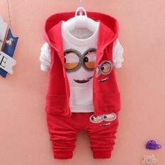 Tips Beli Stelan Anak Laki Laki Set Jacket Minion Merah