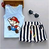Obral Stelan Anak Mario Blue Baju Anak Import Pakaian Anak Murah