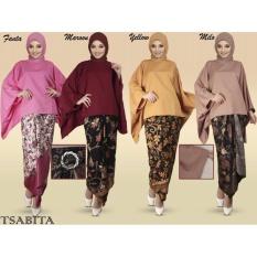 Iklan Stelan Atasan Blouse Batwing Dan Rok Lilit Batik Wanita Jumbo Long Skirt Kimberly Maroon Polos