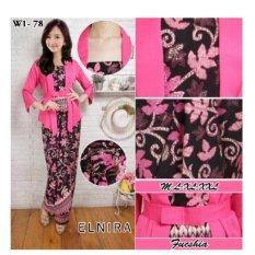 Stelan Atasan Blouse Kebaya Abaya Kutubaru Dan Rok Lilit Batik Long Skirt Giselle Pink Dress Diskon 30