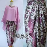 Review Stelan Atasan Blouse Kebaya Batwing Dan Rok Lilit Wanita Jumbo Long Skirt Nadya Dusty Pink Dress Di Banten