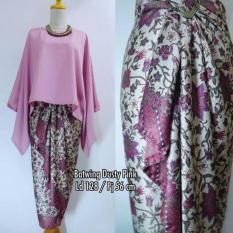 Jual Stelan Atasan Blouse Kebaya Batwing Dan Rok Lilit Wanita Jumbo Long Skirt Nadya Dusty Pink