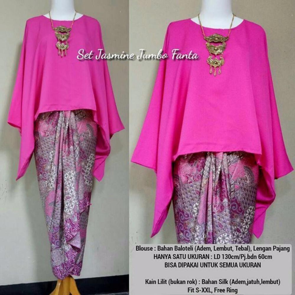 Stelan atasan blouse kebaya batwing dan rok lilit wanita jumbo long skirt  Nadya - fanta (. Info Harga Murah ... 285f35b668