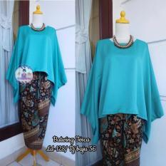 Harga Stelan Atasan Blouse Kebaya Batwing Dan Rok Lilit Wanita Jumbo Long Skirt Nadya Tosca Tosca Dress Original
