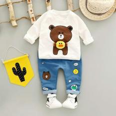 Spesifikasi Stelan Baju Anak Pakaian Anak Perempuan Fashionable Set Brown Cony White Lengkap Dengan Harga