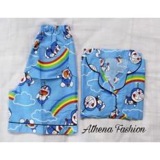 Jual Stelan Baju Tidur Wanita Import Piyama Wanita Pajamas Doraemon Athena Fashion Multi Murah