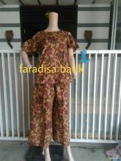 Stelan Celana Kulot Dan Blouse Batik Model Lengan Berlubang