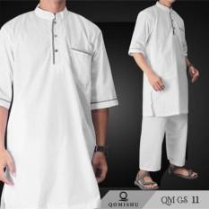 Stelan Gamis Pria  Baju Muslim Pria  Gamis Laki-Laki  Baju Koko  QMGS 11
