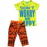 Beli Stelan Hijau Dont Worry Be Happy Celana Orange Cicilan