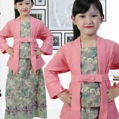 Kualitas Stelan Kebaya Anak Perempuan Usia 7 12Th Warna Pink Mewah Twin