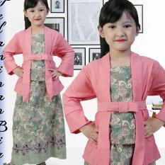 Stelan Kebaya Anak Perempuan Usia 7thn-12thn Warna Pink Mewah