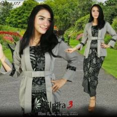 Stelan baju batik wanita / kebaya modern kutu baru & rok lilit. Elnira 3. keluaran terbaru