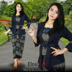 Stelan baju batik wanita /kebaya modern kutu baru & rok lilit. Elnira 3. keluaran terbaru