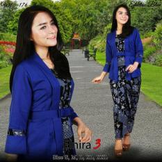 Stelan baju batik wanita/kebaya modern kutu baru & rok lilit. Elnira 3. keluaran terbaru