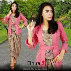 Stelan baju  batik wanita-kebaya modern kutu baru & rok lilit. Elnira 3. keluaran terbaru