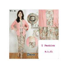 Stelan baju batik wanita - kebaya modern- kutu baru & rok lilit. Elnira1. keluaran - terbaru