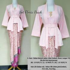 Stelan baju batik wanita/ kebaya kutu baru polos dan rok lilit M.L.XL
