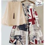 Beli Ruliva Stelan Kulot London Set Baju Celana Kulot Setelan Kulot Online Indonesia