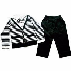 Tips Beli Stelan Stripe Cardigan Celana Hitam