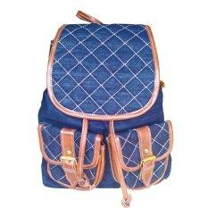Jual Beli Stitch Tas Jeans Backpack Biru