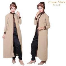 STOCK CLEARANCE - Crosse Mara Hijab - Robe - Jubah Sahara Duo - Mocha - 1 Pcs