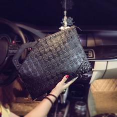 Beli Trendi Pria Korea Fashion Style Paku Keling Pencetakan Tas Genggam Tas Tangan Hantu Halaman Depan Oem Asli